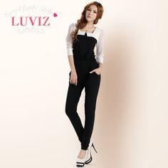 LUVIZ 2013春款女装 雪纺修身显瘦小脚连衣裤
