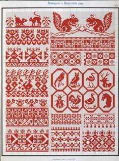 Сборник Великорусских и Малороссийских узоров для вышивания  - 1877