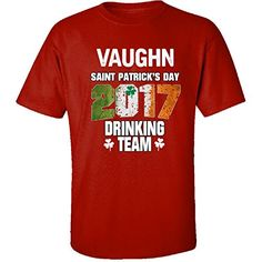 Vaughn Irish St Patricks Day 2017 Drinking Team  Adult Shirt 3xl Red *** Detailed information can be found by clicking on the VISIT button