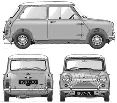 Austin Mini Cooper Mk II templates views