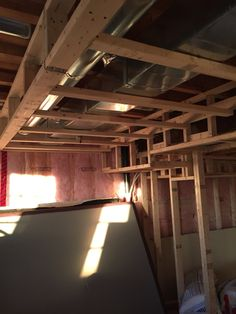 Bulkhead and framing & frame+a+basement | Best Way to Frame Around Ductwork-ductwork ...