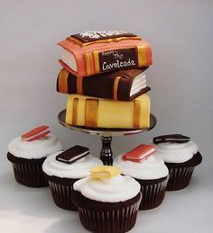 Pastel para el amor por los libros y la lectura