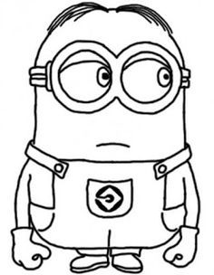 dave the minion despicable coloring for kids despicable me cartoon coloring pages