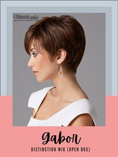 Distinction Wig... With piece-y bangs and added length in the top and sides for a slightly asymmetrical look, this short, sleek boy cut reflects one of the latest silhouettes offered in today's better salons. #hairstyles #hairdo #hairoftheday #styleinspo #styles 2015 Hairstyles, Pixie Hairstyles, Pixie Haircut, Cute Hairstyles, Hairstyle Ideas, Natural Hair Wigs, Natural Hair Styles, Short Hair Styles, Gabor Wigs