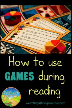 Incorporating fun games during reading instruction time! Great for special education teachers and intervention support staff. Use games to help motivate struggling readers. http://www.thepathway2success.com/incorporating-games-into-reading-time/