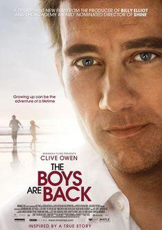 Mes garçons sont de retour est un film de Scott Hicks avec Clive Owen, Laura Fraser. Synopsis : Journaliste sportif britannique, Joe War s'est exilé en Australie par amour pour Katy. Lorsque cette dernière est foudroyée par un cancer, il se retro