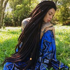 Image may contain: 1 person, tree, grass, outdoor and nature Black Women Hairstyles, Cool Hairstyles, Best Lace Wigs, Beautiful Dreadlocks, Pelo Natural, Natural Wigs, Dreadlock Hairstyles, Braided Hairstyles, Costume Wigs