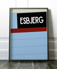 Esbjerg, Danmark Fiskekutter grafisk design dansk design poster plakat