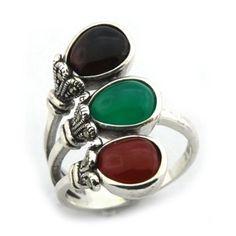 Stříbrný prsten Silvego s Achátem r0796 velikost 52