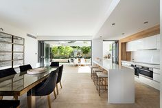 Creating or designing an open kitchen space is something we consider when we wanted to make sure we can see the entire floor area in our home. Kitchen Design Open, Open Kitchen, Kitchen Living, Interior Design Kitchen, Home Design, Kitchen Decor, Kitchen Designs, Design Ideas, Long Kitchen