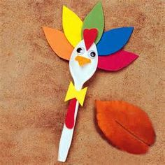 Thanksgiving Turkey Spoon Craft | Live outside the box @ 4343 at the ...