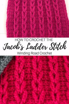 How to Crochet jacob s Ladder Stitch Video Tutorial Learn to crochet chain cables or jacob s ladder stitch with this video and photo tutorial crochet crochetstitch crochetvideotutorial jacobsladder Best Picture For crochet stitches patterns Different Crochet Stitches, Crochet Stitches Patterns, Stitch Patterns, Knitting Patterns, Crochet Baby Blanket Patterns, Needlepoint Stitches, Afghan Crochet, Knitting Stitches, Doll Patterns