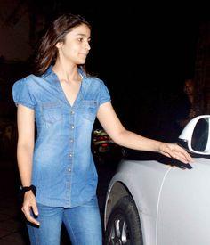 Alia Bhatt spotted with Ayan Mukerji on his 29th birthday outside Karan Johar's birthday. #Bollywood #Fashion #Style #Beauty