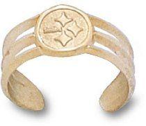 Pittsburgh Steelers 14K Gold Circle Logo Toe Ring