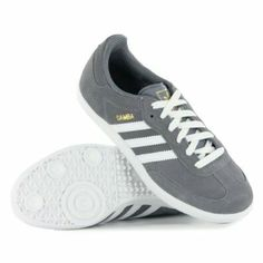 THE LITTLE THINGS COUNT - GREY/WHITE SAMBAS WITH WHITE SOLES AND LACES..