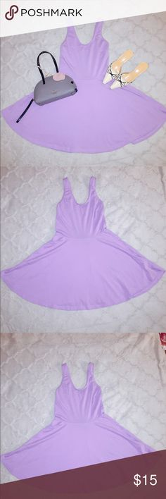 """Pastel Purple Cotton Tank Circle Dress Great for spring! Super adorable pastel purple cotton circle dress! Worn once. Size Small. Cotton and elastane. Provides comfy stretch that fits perfectly up top, with a flared out circle skirt. Measurements while flat: bust 15"""", waist 16"""", length 30"""". This dress can be dressed up or down. Perfect! Not urban outfitters but similar style. No labels. I have other colored tank circle dresses from UO that look exactly the same also for sale. Urban…"""