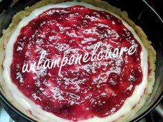 le ricette di zia bianca: Crostata morbidosa con Crema bianca e Marmellata di Lamponi per #unlamponelcuore