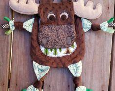 Moose Blanket Moose Blankie Security Blanket by 1377Threads