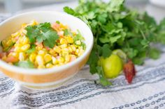 Corn and Tomato salsa // A great alternative to guacamole and works great alongside a bowl of corn chips. // http://desiredcooking.com/recipes/corn-and-tomato-salsa