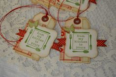 More baked goods tags...October Afternoon Modern Homemaker papers...