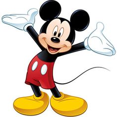 Disney - Peel & Stick Giant Wall Decal, Mickey Mouse $16.97 (A's bathroom?)