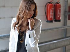 the white blazer on The Luster Edition