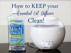 How to Keep your Essential Oil Diffuser Clean! #EssentialOils