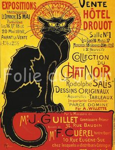 Sexy French Art Posters Advertisement | French Advertising Poster - Tournee du Chat Noir Rodolphe Salis ...