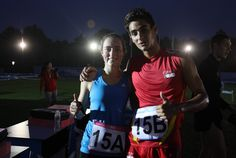 El fraternal abrazo final entre la atleta guatemalteca Isabel Brand y el español Joan Gispert