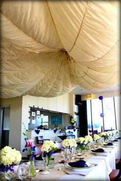 Parachute As Ceiling Decor Mavi Social Butterfly Design