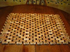 Here is how I make a cork doormat using wire and cork. You can make one too with a bunch of corks, some ...
