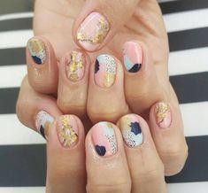 Make an original manicure for Valentine's Day - My Nails Diy Nails, Cute Nails, Pretty Nails, Modern Nails, Pin On, Manicure E Pedicure, Minimalist Nails, Gel Nail Art, Nail Art Diy