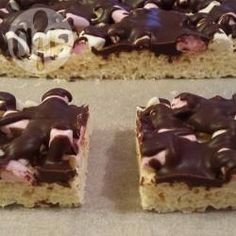 Rice Bubble Slice.. with Marshmallows and Chocolate @ allrecipes.com.au