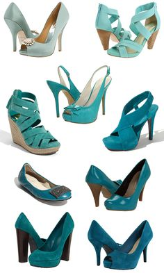 www.somethingturquoise.com to find the links to all these turquoise shoes!