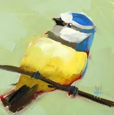 Image result for paintings blue tit