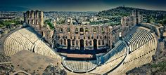 Odeon of Herodes Atticus, Acropolis, Athens, Greece by The_Skinny_Boy, via Flickr