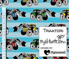 Trikoo Traktori, turkoosi / Jersey Traktor Turquoise (Tulossa elokuussa / Upcoming in August)