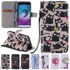Flip Leather Wallet W/ Strap Card Cover Stand Case For Samsung Galaxy J3 2016 #UnbrandedGeneric