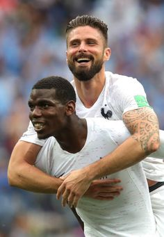 68b8fde75 Paul Pogba of France and Olivier Giroud of France celebrate following their  sides victory in the