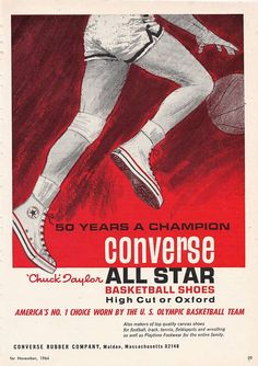 The All-Star Phenomenon – 25 Vintage Converse All Star Ads – Fashion Design Old Advertisements, Retro Advertising, Retro Ads, Vintage Ads, Vintage Posters, Converse All Star, Converse Sneakers, Bicicletas Raleigh, Converse Vintage