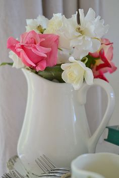 White pitchers . . so graceful.