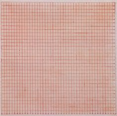 23rd-block: Agnes Martin, Untitled. 1963. Red ink