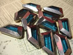 8 Turquoise Blue Silver-Edged Trapezoid Beads. Starting at $3 on Tophatter.com! Live at 8p.m. June 6th, don't miss out.
