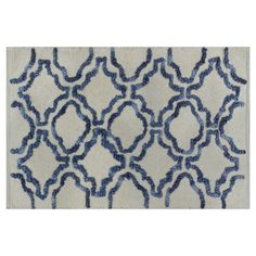 Stonewash bath rug - navy/cream threshold @ target