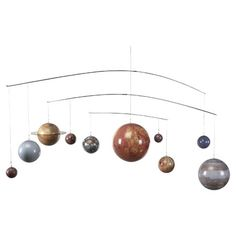 Add universal appeal to your home library or office with this charming solar system mobile, featuring 3 tiers of model planets.     ...