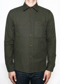 Rogue Territory Hunter Shirt Olive Neppy Flannel