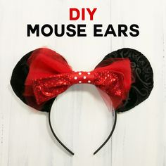 Step-by-step tutorial to make your own Mickey Mouse Ears for a custom look at less money. Includes sew and no-sew directions!