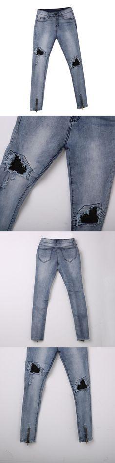 ITFABS Newest Arrivals Fashion Men' Ripped Slimfit Skinny Jeans Stretch Denim Distress Frayed Biker Stylish Street Club Jeans
