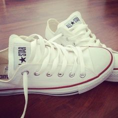 Converse all star white Vintage Touch Tumblr
