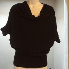 Ann Taylor loft short sleeve sweater Brand new Ann Taylor loft sweater/ tag removed / never worn / rich black/size s/ Ann Taylor Sweaters Crew & Scoop Necks